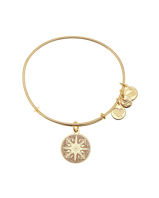 ALEX AND ANI - Metallic Healing Love Color Infusion Expandable Wire Charm Bracelet - Lyst