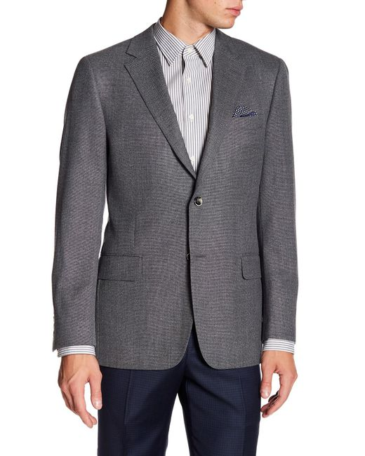 Hickey Freeman | Gray Classic Grey Two Button Notch Lapel Wool Sport Coat for Men | Lyst