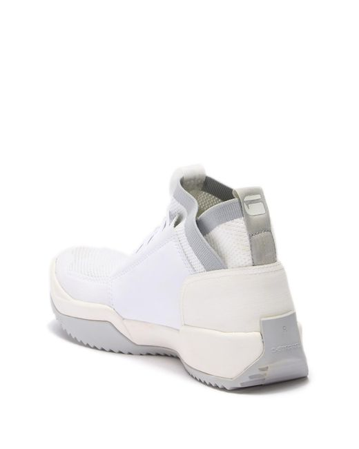 Raw Star Mesh For Lyst In Knitted Top Sneaker G Men White Hi qE5wp