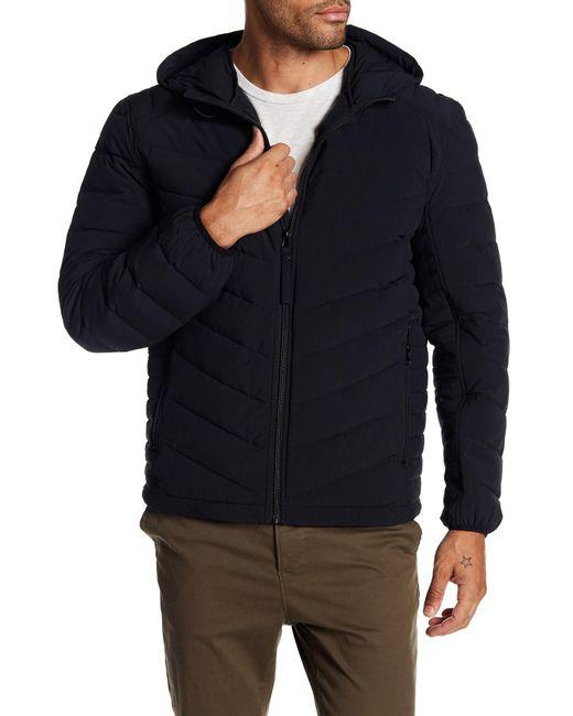 Andrew Marc | Black Delavan Lightweight Quilted Winter Coat for Men | Lyst