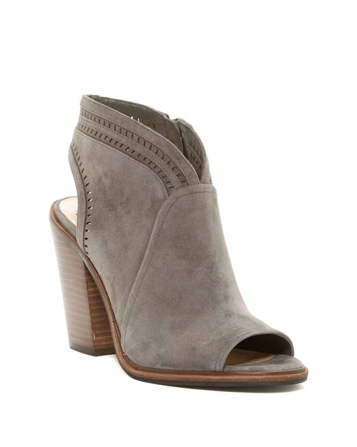 Vince Camuto Koral Perforated Open Toe Bootie Slim Width