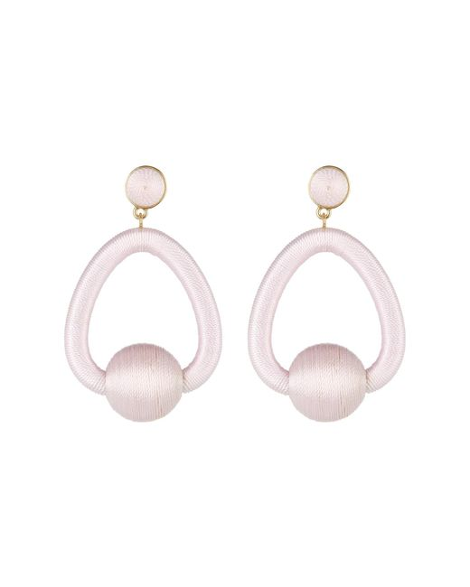 BaubleBar - Pink Mariela Woven Hoop Drop Earrings - Lyst
