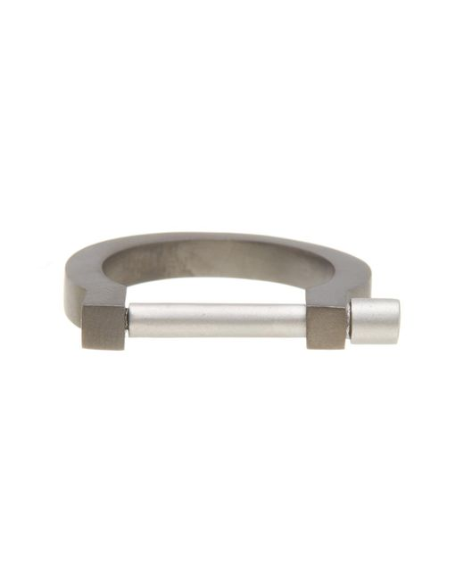 Miansai | Metallic Modern Screw Cuff Ring - Size 9 | Lyst