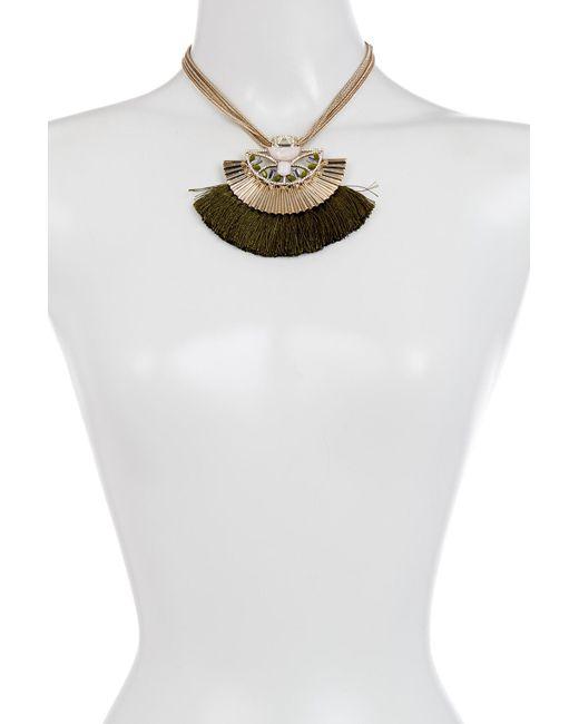 Jenny Packham - Metallic Tassel Frontal Necklace - Lyst