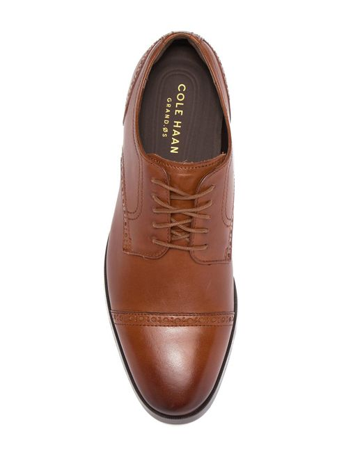 738b8b52631 ... Cole Haan - Brown Jefferson Grand Cap Toe Oxford - Wide Width Available  for Men ...
