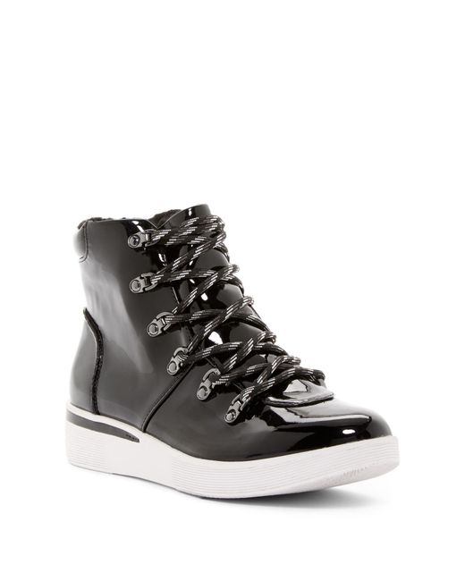 Kenneth Cole Reaction | Black Hum For You Faux Shearling Lined High-top Sneaker for Men | Lyst