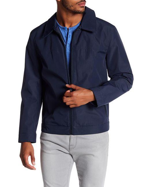 Andrew Marc | Blue Montrose Collared Front Zip Jacket for Men | Lyst