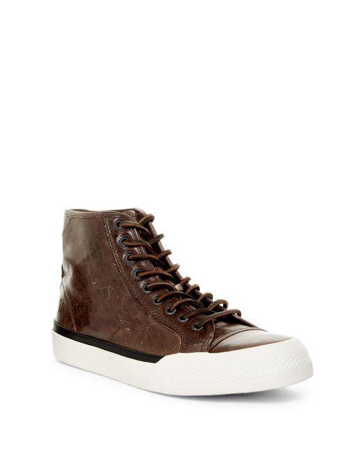 Frye   Brown Greene High Lace-up Sneaker for Men   Lyst