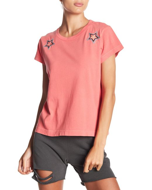 Wildfox - Pink Starbright Number 9 Tee - Lyst