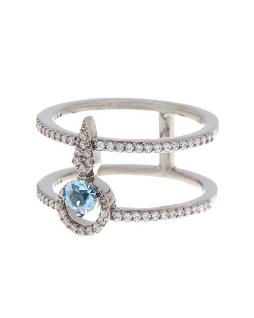 Nadri | Metallic Gwen Cz Double Pave Ring - Size 7 | Lyst