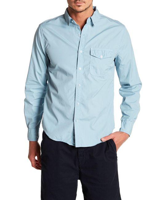 Save Khaki - Blue Poplin Work Classic Fit Shirt for Men - Lyst