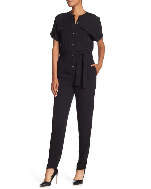 Theory - Black Cargo Styled Jumpsuit - Lyst