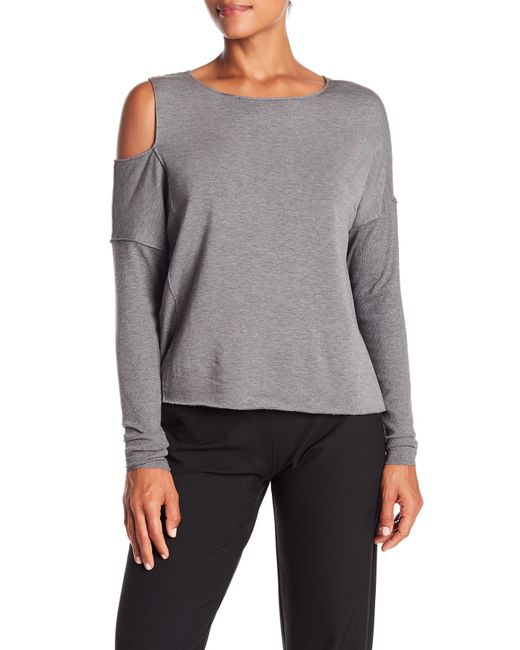 Bailey 44 - Gray The Only One Cold Shoulder Top - Lyst