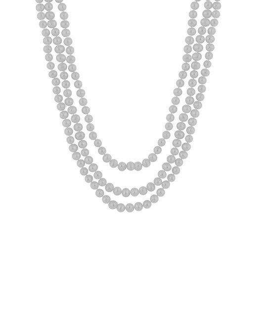 Splendid - Metallic Endless Gray 8-9mm Freshwater Pearl Necklace - Lyst