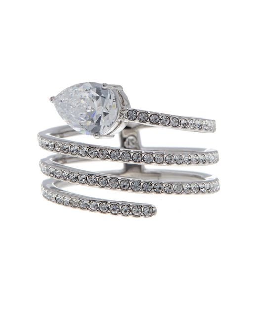 Nadri | Metallic Celeste Cz Pave Spiral Ring - Size 6 | Lyst