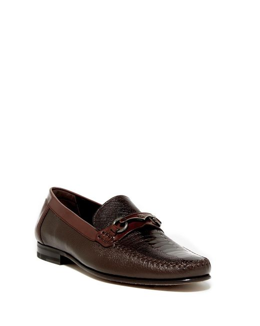 Mezlan | Brown Genuine Ostrich Bit Loafer for Men | Lyst
