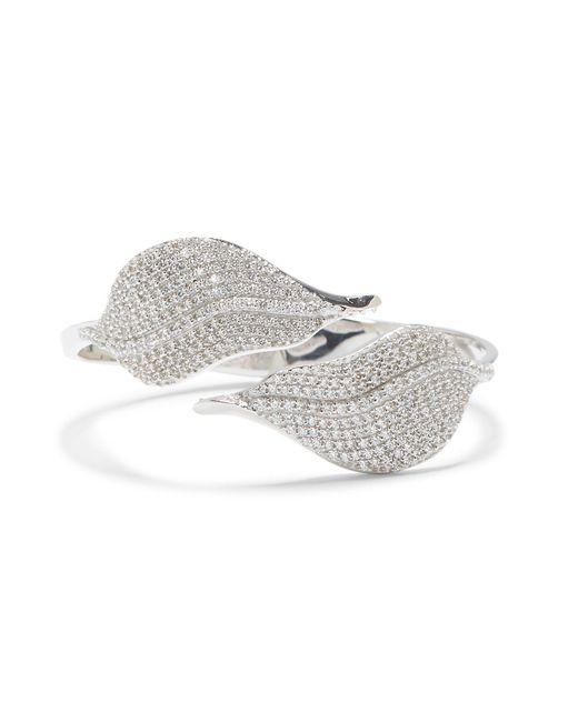 Vince Camuto Metallic Silvertone Bypass Hinge Cuff Bracelet