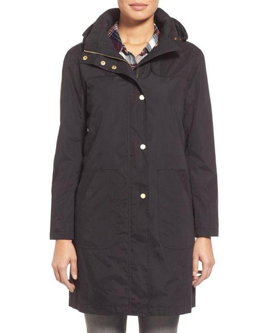 Ellen Tracy | Black A-line Raincoat | Lyst