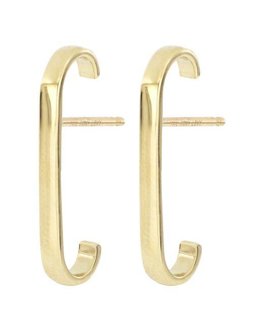 Bony Levy Metallic 14k Yellow Gold Cuff Stud Earrings