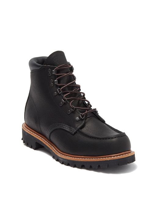Red Wing Black Sawmill Leather Boot for men