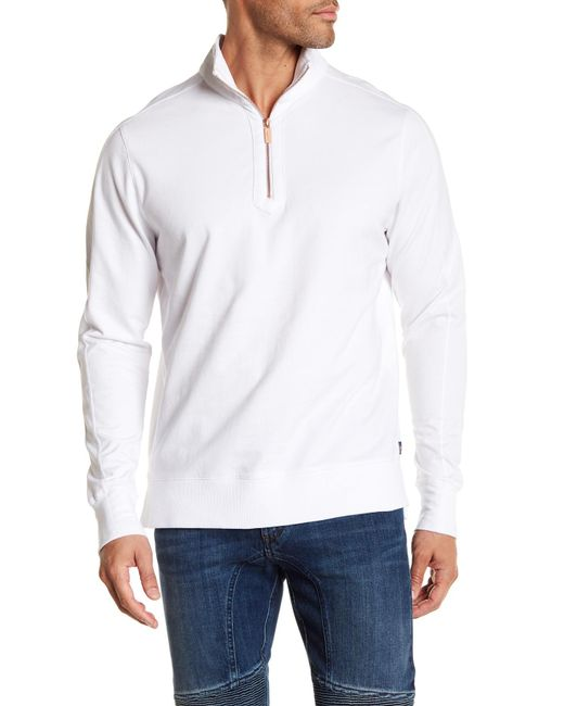 Good Man Brand - White Slim Pro Quarter Zip Pullover for Men - Lyst