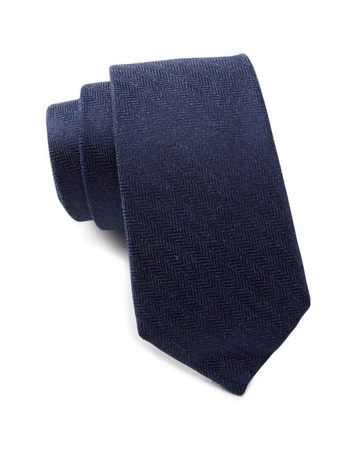 Ben Sherman - Blue Ledbury Chevron Solid Tie for Men - Lyst