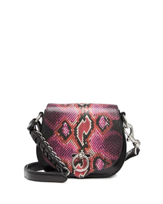 Rebecca Minkoff Multicolor Jean Small Leather Saddle Bag