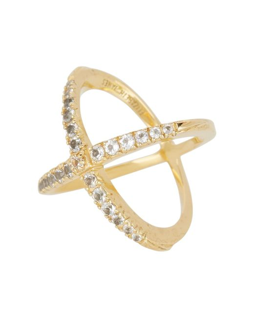Elizabeth and James - Multicolor Windrose Pave White Topaz Ring - Size 6 - Lyst
