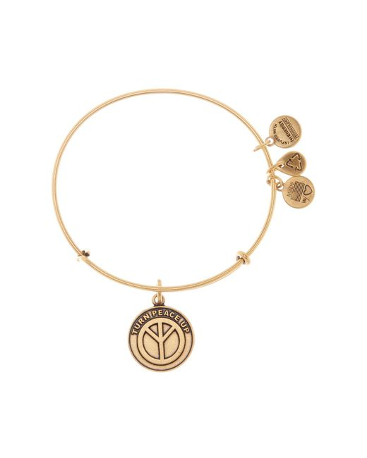 ALEX AND ANI - Metallic World Peace Charm Expandable Wire Bracelet - Lyst
