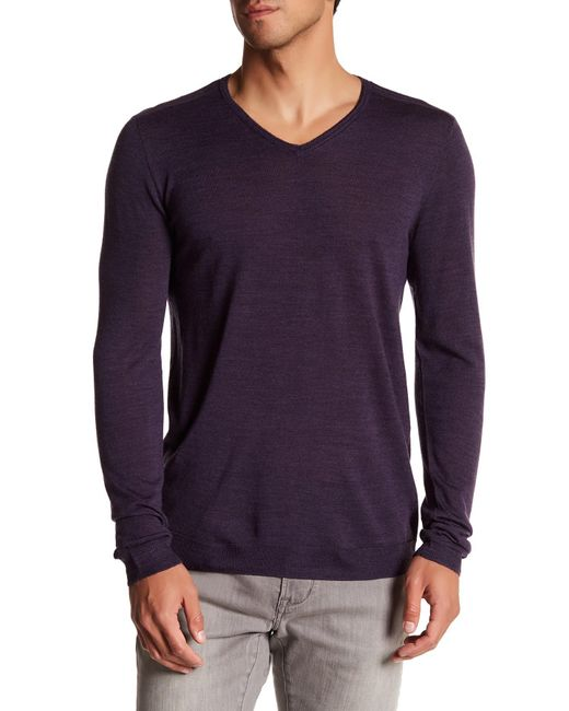 John Varvatos | Purple V-neck Sweater for Men | Lyst