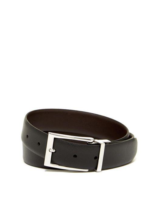 Boconi - Brown Reversible Textured Leather Belt for Men - Lyst