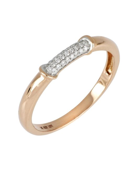 Bony Levy - Metallic 18k Rose Gold Diamond Pave Band Ring - 0.08 Ctw - Lyst