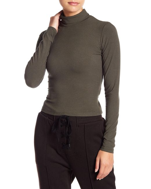 ARRIVE - Green Mira Lace-up Turtleneck Top - Lyst ... 4f05c0308