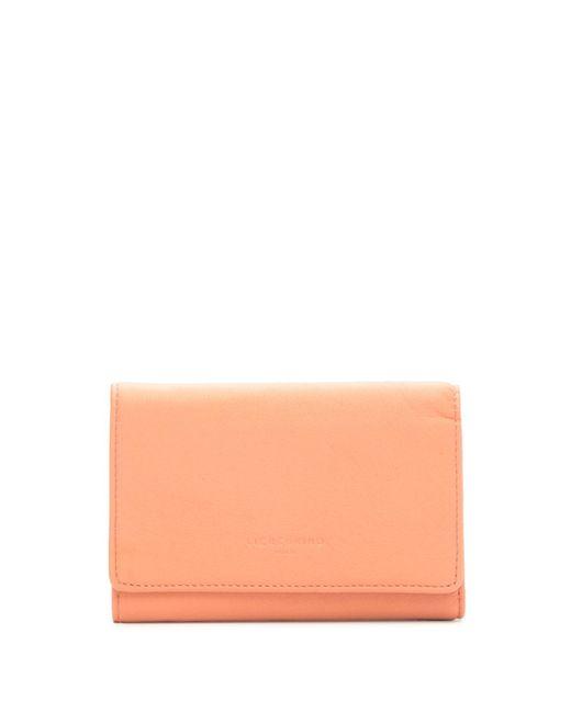 Liebeskind Berlin Pink Vintage Piper Trifold Leather Wallet