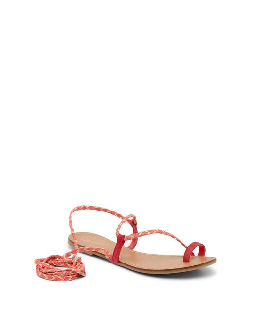 Seychelles Pink Glory Suede Wrap-around Ankle Strap Sandal