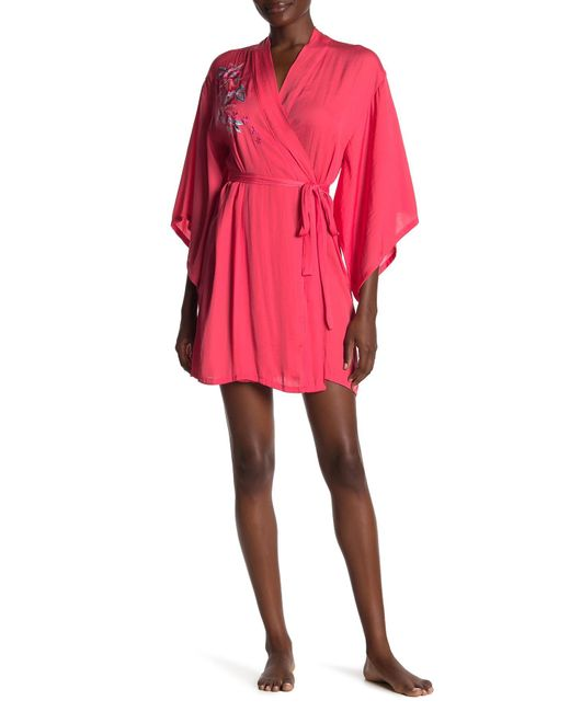Josie Pink Floral Embroidered Robe