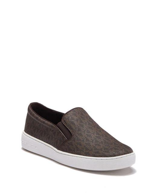 5525b98c2f8e MICHAEL Michael Kors - Brown Keaton Slip-on Sneaker - Lyst ...