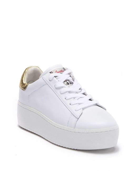 a67e4b2cccaa Lyst - Ash Cult Platform Sneaker (women) in White - Save ...