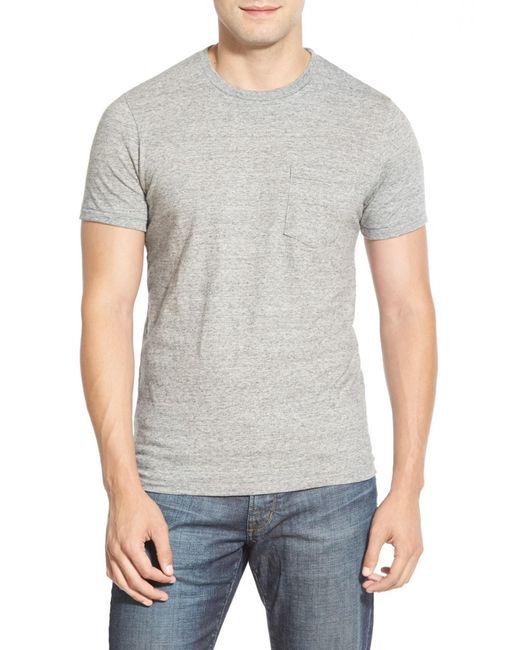 Bonobos | Gray Double Face Jersey Pocket Crewneck T-shirt for Men | Lyst