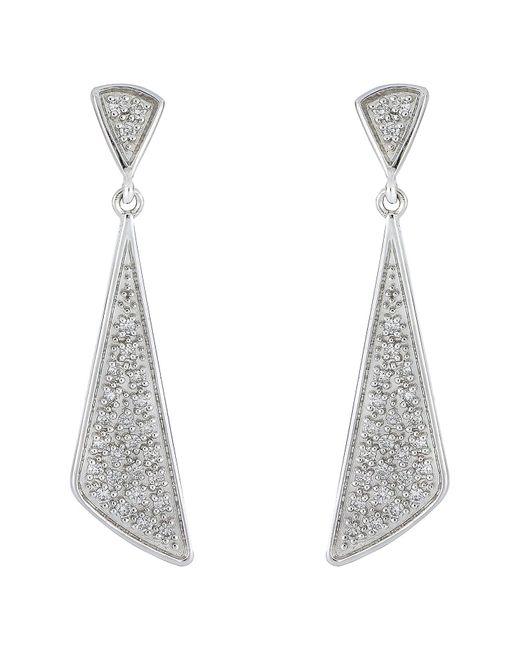 Bony Levy - Metallic 18k White Gold Pave Diamond Prism Drop Earrings - 0.16 Ctw - Lyst
