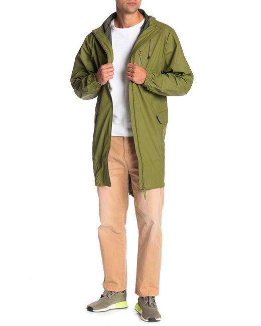 Rains Green Waterproof Hooded Jacket for men