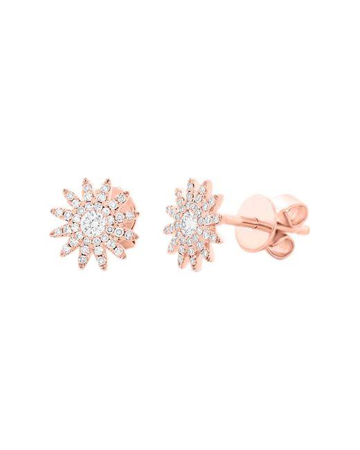 Ron Hami - Pink 14k Rose Gold Diamond Sun Stud Earrings - 0.24 Ctw - Lyst