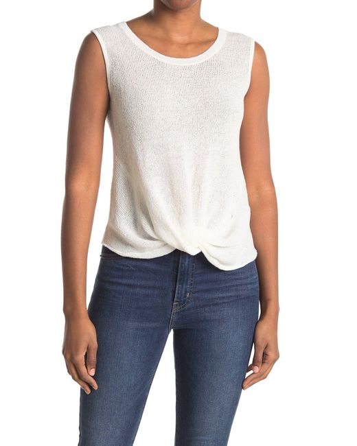 7 For All Mankind Natural Knotted Front Tank