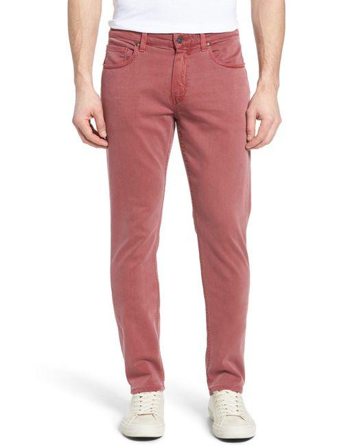 PAIGE   Multicolor Transcend - Federal Slim Straight Leg Jeans (radish) for Men   Lyst