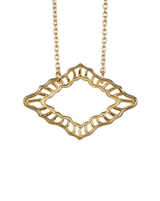 Argento Vivo   Metallic 18k Gold Plated Cutout Detail Pendant Necklace   Lyst