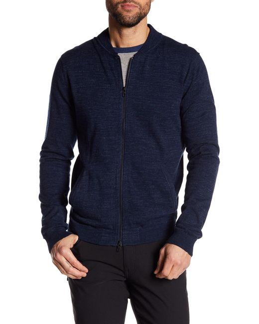 Tocco Toscano - Blue Long Sleeve Baseball Full Zip Bomber Jacket for Men - Lyst
