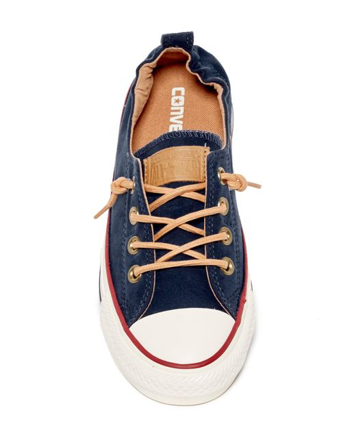 Converse Chuck Taylor All Star Broaderie Anglias Ox Navy Textile Youth Trainers Shoes