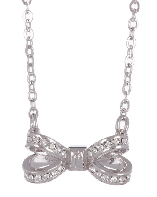 Ted Baker - Metallic Mini Opulent Swarovski Crystal Accented Bow Pendant Necklace - Lyst