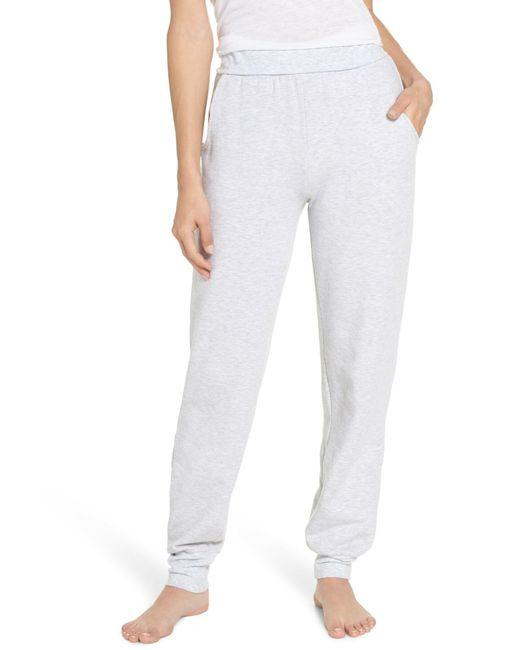 TOPSHOP - Gray Jogger Pajama Pants - Lyst