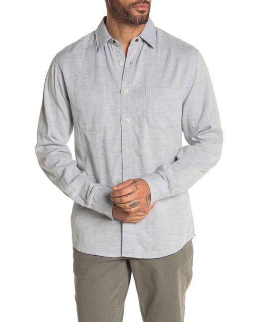 Faherty Brand Blue Bellmar Reversible Regular Fit Shirt for men